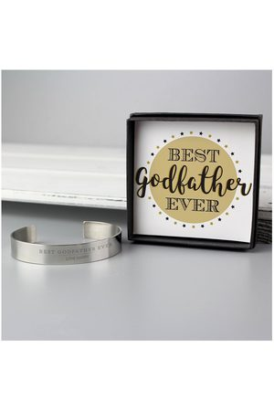 Vero Moda Very Personalised Godfather Stainless Steel Bangle And Sentiment Box