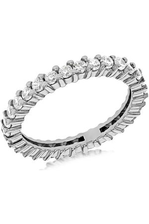 The Love Silver Collection Sterling White Cubic Zirconia Full Etetnity Ring