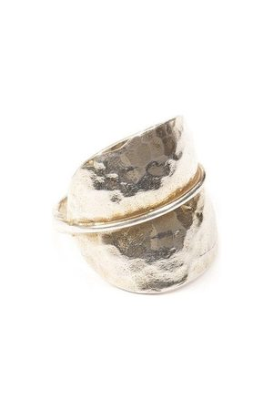 Jewel Tree London Forest Leaf Ring Sterling Silver