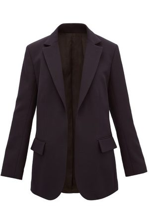 Raey Women Blazers - Single-breasted Wool-twill Suit Jacket - Womens - Navy