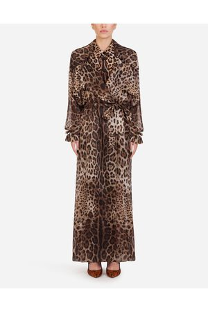 Dolce & Gabbana Collection - ORGANZA TRENCH COAT WITH LEOPARD PRINT