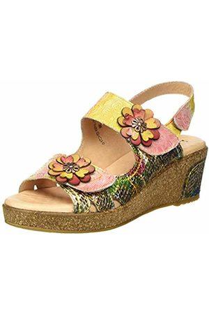 LAURA VITA Women's Hacleo 02 Open Toe Sandals, (Dore Dore)