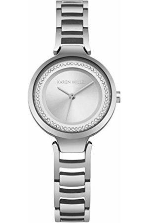 Karen Millen Womens Analogue Classic Quartz Watch with Stainless Steel Strap KM169SM