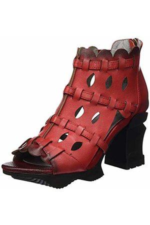 LAURA VITA Women's Arcmanceo 57 Open Toe Sandals, (Rouge Rouge)