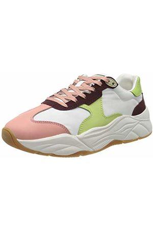 SCOTCH & SODA FOOTWEAR Women's Celest Low-Top Sneakers, (Wht-Chocol.Multi S298)