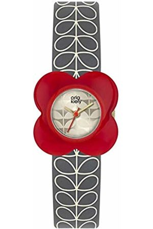 Orla Kiely Unisex Adult Analogue Classic Quartz Watch with Leather Strap OK2282