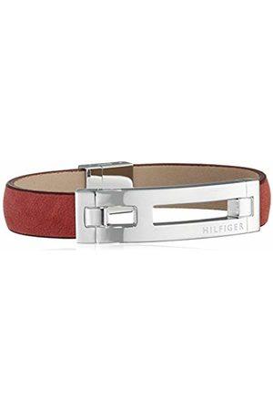 Tommy Hilfiger Men's Burgundy H ID Leather Bracelet
