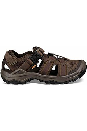 Teva Men's Omnium 2 Leather Open Toe Sandals, (Turkish Coffee Tkcf)
