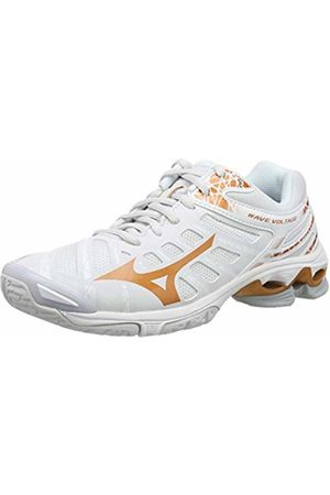 Mizuno Women's Wave Voltage Volleyball Shoes, (Nimbus Cloud/10135c/Wht 52)