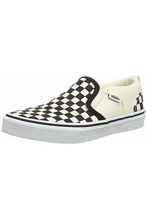 Vans Asher, Boys' Low-Top Sneakers, White (checkers/ /natural)
