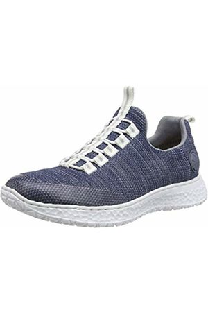 Rieker Women's Frühjahr/Sommer Low-Top Sneakers, (Clear/Denim/Jeans/ 16 16)