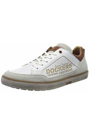 Dockers Men's 46ul001-120500 Low-Top Sneakers, (Weiss 500)