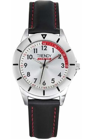Trendy Junior Boys Analogue Quartz Watch with Leather Strap KL 284