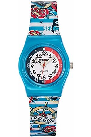 Freegun Child Quartz Watch with Dial Analogue Display and Plastic Strap- EE5197
