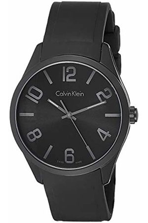 Calvin Klein Men's Quartz Watch with Dial Analogue Display Quartz Rubber K5E514B1