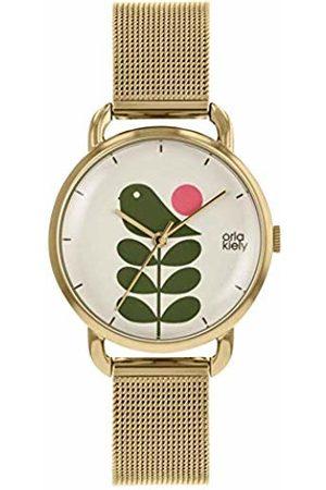 Orla Kiely Unisex Adult Analogue Classic Quartz Watch with Stainless Steel Strap OK4080