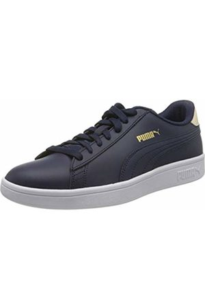 Puma Unisex Adulto Smash v2 L Zapatillas, Azul (Peacoat/Tapioca Team 21)