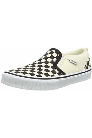 Vans Boys' Asher Slip On Trainers, ((Checkers) /Natural Ipd)