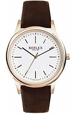Reflex Mens Analogue Classic Quartz Watch with PU Strap REF0016