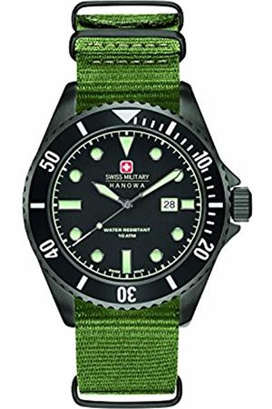 Swiss Military Men's Quartz Watch with Dial Analogue Display and Nylon Strap 6-4279.13.007