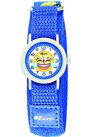 Ravel Children's Emoji Watch on Blue Easy Fasten Strap