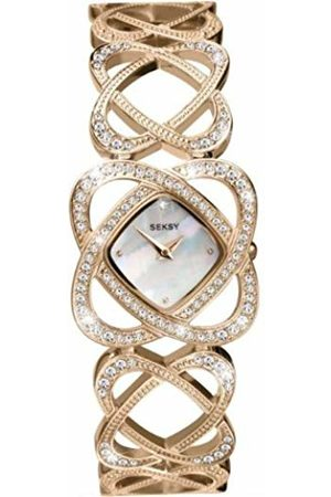 Sekonda Women's Quartz Watch with Mother of Pearl Dial Analogue Display and Rose Bracelet 4229.37