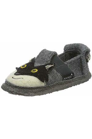 Nanga Unisex Kids' Racoon Open Back Slippers, (Mittelgrau 65)