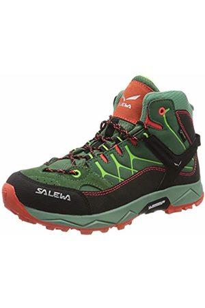 Salewa Unisex Kids' Jr Alp Trainer Mid GTX High Rise Hiking Shoes, (Myrtle/Tender Shot 5960)