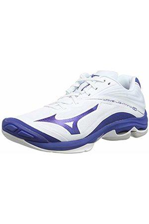 Mizuno Unisex Adult's Wave Lightning Z6 Volleyball Shoes, (Wht/10249c/Trueblue 21)