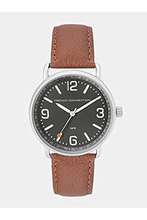 French Connection Mens Analogue Classic Quartz Watch with Leather Strap FC1312ET