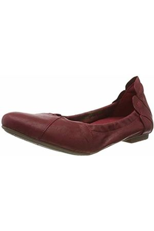 Think! Women's 686161_Balla Closed Toe Ballet Flats, (Cherry 73)