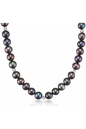 Sakura Pearl AM 334 A Ladies Necklace 925 Silver Rhodium Plated Crystal Grey Freshwater Cultured Pearl 45 cm
