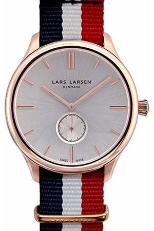 Lars Larsen Simon Men's Quartz Watch with Dial Analogue Display and Fabric Strap 122RBAN