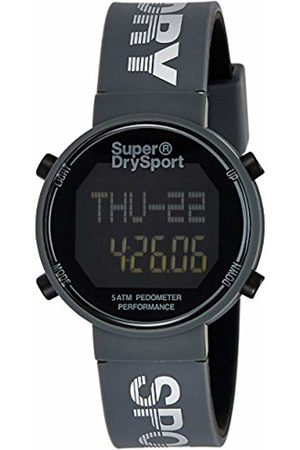 Superdry Unisex Digital Watch with Silicone Strap SYG203E