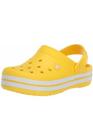 Crocs Crocband Clog K, Unisex-Child Clogs, (Lemon 7c1)