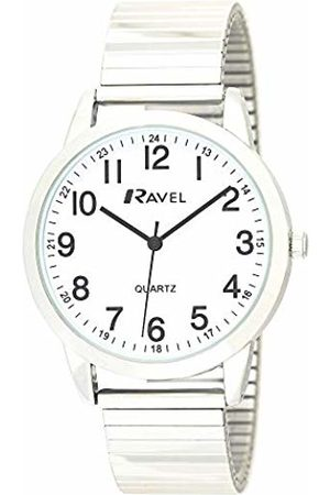 Ravel Mens Analogue Classic Quartz Connected Wrist Watch with Stainless Steel Strap R0232.21.1