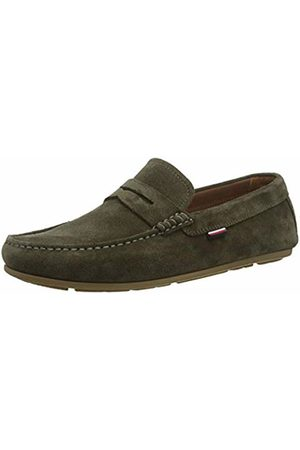 Tommy Hilfiger Men's Classic Suede Penny Loafer Mocassins, (Army Rbn)