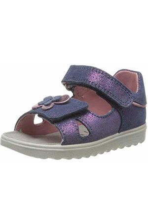 Superfit Baby Girls' Lettie Sandals, (Blau/ROSA 80)