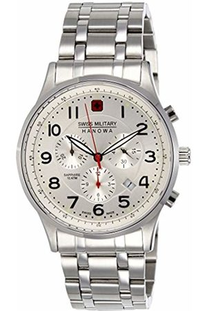 Swiss Military Men's Quartz Watch with Dial Chronograph Display and Stainless Steel Bracelet 6-5187.04.001