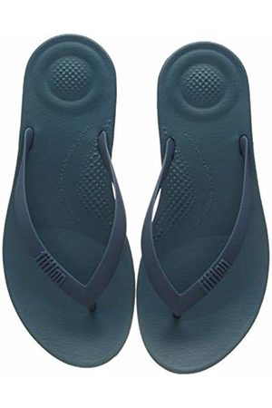 FitFlop Men's Iqushion Ergonomic Flip Flops, (Dark Teal 739)