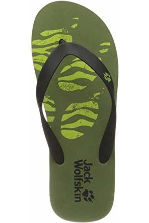 Jack Wolfskin Unisex Kids' Eezy K Flip Flops, (Khaki/Lime 4286)