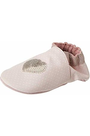 Robeez Baby Girls' Shining Heart Slippers, (Rose Clair 131)