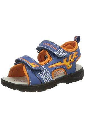 Lurchi Boys' KUBY Ankle Strap Sandals, (DK Cobalt 39)