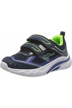 KangaROOS Unisex Kids' Kk-Knox V Low-Top Sneakers, (Dk Navy/Lime 4054)