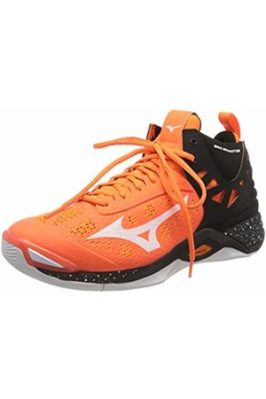 Mizuno Unisex Adult's Wave Momentum MID Volleyball Shoes, (Orangecfish/Wht/Blk 54)
