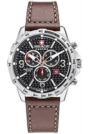 Swiss Military Hanowa Swiss Military Men's Quartz Watch with Dial Chronograph Display and Leather Strap 6-4251.04.007