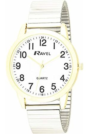 Ravel Mens Analogue Classic Quartz Connected Wrist Watch with Stainless Steel Strap R0232.23.1