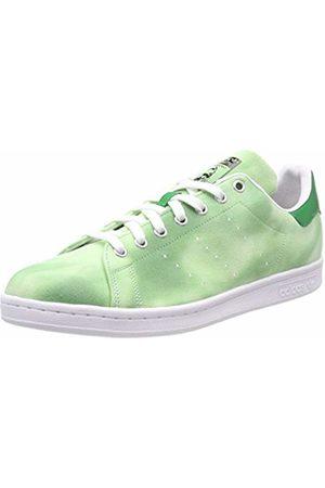 adidas Men's Pw Hu Holi Stan Smith Fitness Shoes, (Ftwbla/Ftwbla/Verde 000)