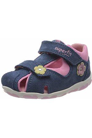 Superfit Baby Girls' Fanni Sandals, (Blau/ROSA 80)