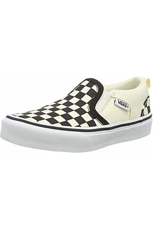 Vans Unisex Kid's Asher Slip On Trainers, ((Checkers) /Natural Ipd)